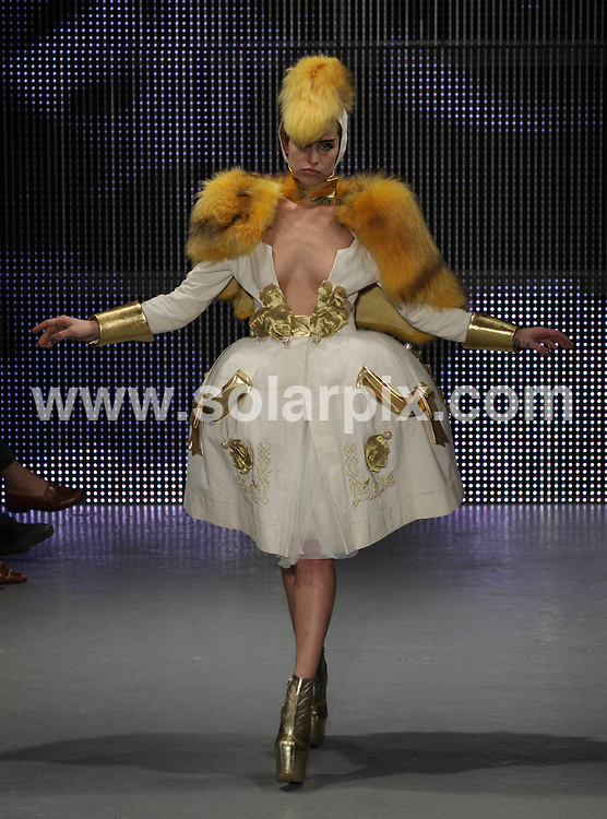 **ALL ROUND PICTURES FROM SOLARPIX.COM**                                             **NO UK NEWSPAPER PUBLICATION**.**UK MAGAZINE & SUPPLEMENT PUBLICATION ONLY** AND NO PUBLICATION IN AUSTRALIA, BELGIUM, FRANCE, GERMANY, ITALY, SCANDINAVIA AND USA**                                                                                  Caption: The Pam Hogg catwalk show at London Fashion Week 2011, London, UK. 20 February 2011                                                                              This pic: Pam Hogg catwalk show                                                                                             JOB REF: 12850 SFE       DATE: 20_02_2011                                                           **MUST CREDIT SOLARPIX.COM OR DOUBLE FEE WILL BE CHARGED**                                                                      **MUST AGREE FEE BEFORE ONLINE USAGE**                               **CALL US ON: +34 952 811 768 or LOW RATE FROM UK 0844 617 7637**