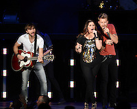 WEST PALM BEACH - MAY 12: (L-R) Dave Haywood, Hillary Scott and Charles Kelley of Lady Antebellum  perform at the Cruzan Amphitheatre on May 12, 2012 in West Palm Beach, Florida. © mpi04/MediaPunch Inc