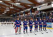 Dawson Creek, BC - Dec 11 2019: Game 7 - Canada East vs. USA at the 2019 World Junior A Championship at the ENCANA Event Centre in Dawson Creek, British Columbia, Canada. (Photo by Matthew Murnaghan/Hockey Canada)