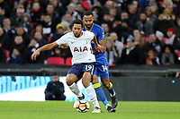 Mousa Dembele of Tottenham and Liam Trotter of AFC Wimbledon during Tottenham Hotspur vs AFC Wimbledon, Emirates FA Cup Football at Wembley Stadium on 7th January 2018