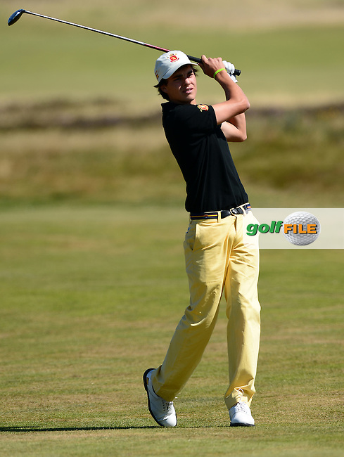 Inigo Benaran of Spain during the Second Round of Qualifying for the Boys Amateur Championship at Southport &amp; Ainsdale Golf Club, Southport, England. Picture: Golffile | Richard Martin-Roberts<br /> All photo usage must carry mandatory copyright credit (&copy; Golffile | Richard Martin-Roberts)