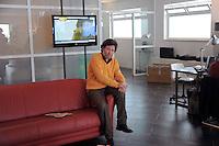 Roma 30 marzo 2009.I nuovi studi Tv di Musicbox in via dei Volsci al quartiere San Lorenzo, Music Box, il canale interattivo di Sky (canale 717), guidato dall'imprenditore genovese Alessandro Giglio,