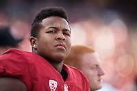 Stanford, CA - November 5, 2016: Jovan Swann during  the Stanford vs Oregon State game at Stanford Stadium Saturday. <br /> <br /> Stanford won 26-15.
