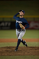 AZL Brewers relief pitcher Tyler Tungate (23) delivers a pitch during an Arizona League game against the AZL Cubs 1 at Sloan Park on June 29, 2018 in Mesa, Arizona. The AZL Cubs 1 defeated the AZL Brewers 7-1. (Zachary Lucy/Four Seam Images)