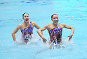 Mariko Sakai, Chisa Kobayashi (JPN), MAY 3, 2012 - Synchronized Swimming : Mariko Sakai and Chisa Kobayashi of Japan perform during the Japan Synchronised Swimming Championships Open 2012, Duets technical routine at Tatumi International pool in Tokyo, Japan. (Photo by Atsushi Tomura /AFLO SPORT) [1035]