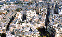 Paris: Panoramic view of Buildings from Eiffel Tower.