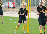 20180304 - LARNACA , CYPRUS :  Belgian Celien Guns pictured during a Matchday -1 training from The Belgian Red Flames prior to their game against Austria , on Sunday 4 March 2018 at the Alpha Sports Grounds in Larnaca , Cyprus . This will be the third game in group B for Belgium during the Cyprus Womens Cup , a prestigious women soccer tournament as a preparation on the World Cup 2019 qualification duels. PHOTO SPORTPIX.BE | DAVID CATRY