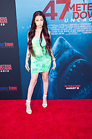 Los Angeles, CA - AUGUST 13th: <br /> Danielle Bregolli attends the 47 Meters Down: Uncaged premiere at the Regency Village Theater on August 13th 2019. Credit: Tony Forte/MediaPunch
