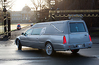 Queen Fabiola - The hearse arrives at the Royal castle chapel in Laeken - Belgium