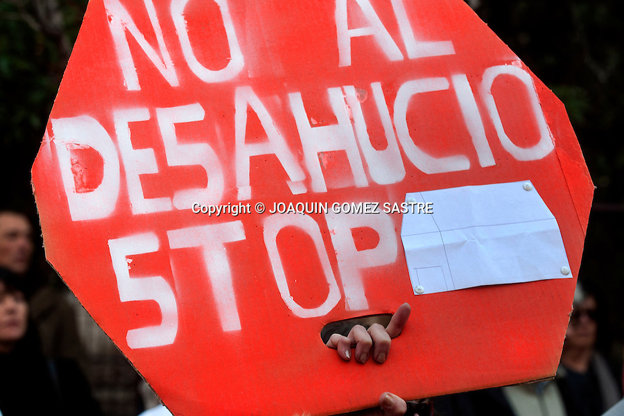 A demonstration against evictions convened toured the main streets of Alicante<br />