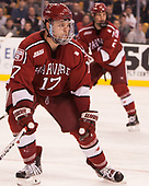 Sean Malone (Harvard - 17) - The Harvard University Crimson defeated the Boston University Terriers 6-3 (EN) to win the 2017 Beanpot on Monday, February 13, 2017, at TD Garden in Boston, Massachusetts.