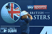 Francesco Molinari (ITA) on the 4th tee during the Pro-Am for the Sky Sports British Masters at Walton Heath Golf Club in Tadworth, Surrey, England on Tuesday 10th Oct 2018.<br />