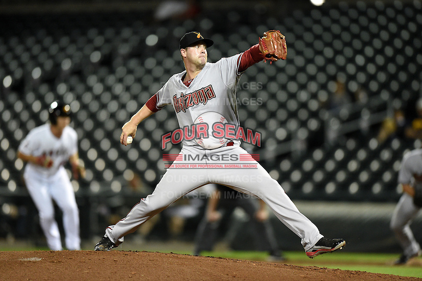 Salt River Rafters pitcher Archie Bradley (25) during an Arizona Fall League game against the Mesa Solar Sox on October 18, 2014 at Cubs Park in Mesa, Arizona.  Mesa defeated Salt River 8-4.  (Mike Janes/Four Seam Images)