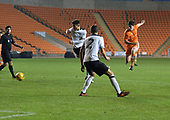 04/12/2018 FA Youth Cup 3rd Round Blackpool v Derby County<br /> <br /> Tom Williams fires in a shot at goal