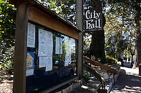 CARMEL - APR 29: Carmel City Hall where Clint Eastwood was mayor in Carmel, California on April 29, 2011.