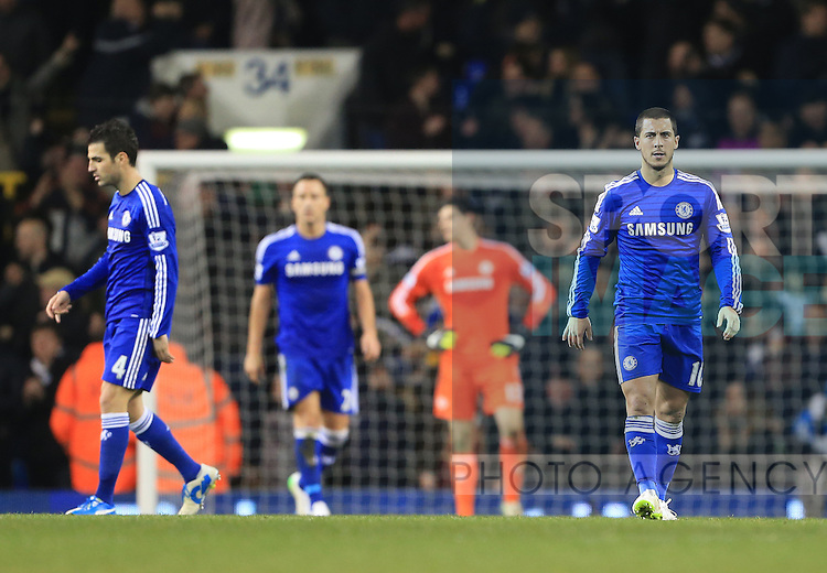 Chelsea's Eden Hazard looks on dejected after going 3-1 down<br /> <br /> Barclays Premier League - Tottenham Hotspur vs Chelsea - White Hart Lane  - England - 1st January 2015 - Picture David Klein/Sportimage