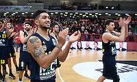 Basketball  1. Bundesliga  2016/2017  Hauptrunde  14. Spieltag  16.12.2016 Walter Tigers Tuebingen - Alba Berlin SCHLUSSJUBEL Alba; Peyton Siva (li)