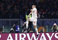 12th January 2020; Stadio Olympico, Rome, Italy; Italian Serie A Football, Roma versus Juventus; Merih Demiral of Juventus celebrates after scoring after 3 minutes for 1-0