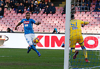 Faouzi Ghoulam of Napoli  during the  italian serie a soccer match,  SSC Napoli - Frosinone       at  the San  Paolo   stadium in Naples  Italy , December 08, 2018