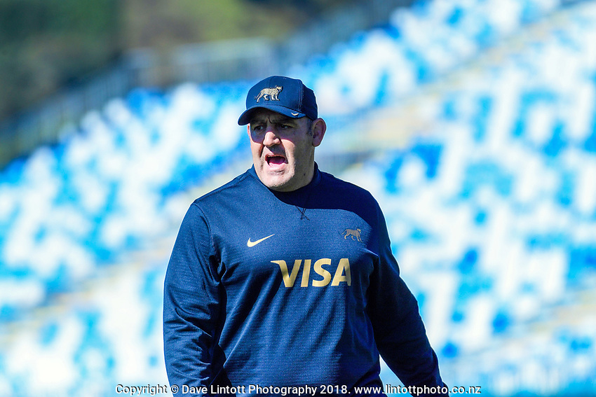 Pumas head coach Mario Ledesma during the Rugby Championship Argentina Pumas captain's run at Trafalgar Park in Nelson, New Zealand on Friday, 7 September 2018. Photo: Dave Lintott / lintottphoto.co.nz