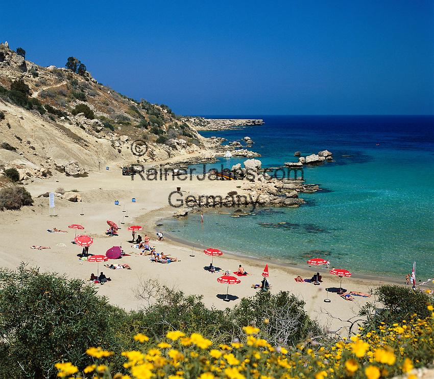 ZYPERN, Sued-Zypern, bei Ayia Napa: Konnos Bucht und Beach | CYPRUS, South-Cyprus, near Ayia Napa: Konnos Bay and Beach