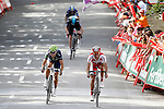(L to R) Christopher Froom (c), Alberto Contador (t), Alejandro Valverde (l) and Joaquin Purito Rodriguez during the stage of La Vuelta 2012 between Faustino V and Eibar (Arrate).August 20,2012. (ALTERPHOTOS/Acero)