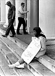 Picketer on steps of court house in Balbour County, Ala. This and over 10,000 other images are part of the Jim Peppler Collection at The Alabama Department of Archives and History:  http://digital.archives.alabama.gov/cdm4/peppler.php