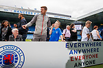 22.07.2019 Rangers launch diversity and inclusion campaign 'Everyone, Anyone'  at Ibrox today. Manager Steven Gerrard greets all the supporters in attendance