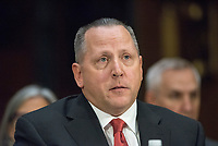 WASHINGTON, DC - NOVEMBER 8:   Todd Wilkinson, President and Chief Executive Officer, Entrust Datacard Corp testifies at a Congressional hearing on Consumer Data breach.The hearing features testimony from a current and a former official who worked on the response to Yahoo!ís 2013 data breach, which the company announced only last month affected all 3 billion user accounts, as well as the current and former CEO of Equifax, which suffered a 2017 breach reported to affect approximately 145 million individuals, including sensitive personal and financial information. Credit: Patsy Lynch/MediaPunch
