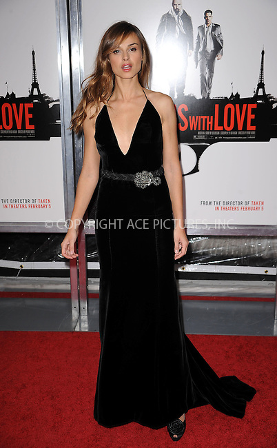 WWW.ACEPIXS.COM . . . . . ....January 28 2010, New York City....Actress Kasia Smutniak arriving at the 'From Paris With Love' premiere at the Ziegfeld Theatre on January 28, 2010 in New York City. ....Please byline: KRISTIN CALLAHAN - ACEPIXS.COM.. . . . . . ..Ace Pictures, Inc:  ..(212) 243-8787 or (646) 679 0430..e-mail: picturedesk@acepixs.com..web: http://www.acepixs.com
