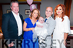 Baby Sophia, daughter of Helen O'Sullivan & Darren Cole, Ballyduff and godparents Paddy O'Sullivan & Samantha Cole who was christened in St. Peter & Paul's Church by Fr. Liam on Saturday last and afterwrds at Lowes Bar, Ballyduff.