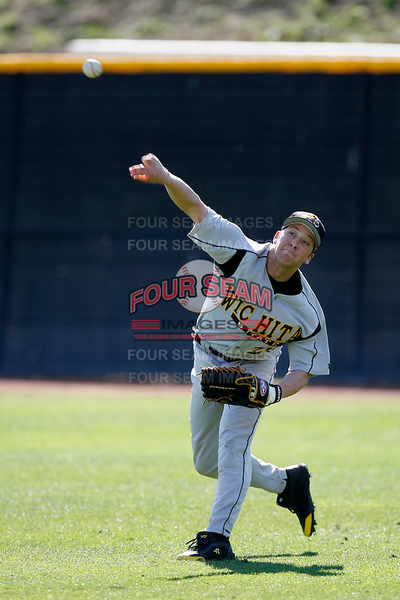 Matt Brown of the Wichita State Shockers during a game against the Pepperdine Waves at Eddy D. Field Stadium on February 16, 2007 in Malibu, California. (Larry Goren/Four Seam Images)