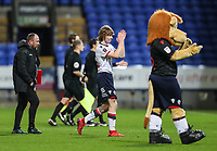 Bolton Wanderers' Luca Connell applauds the home supporters at the end of the match<br /> <br /> Photographer Andrew Kearns/CameraSport<br /> <br /> Emirates FA Cup Third Round - Bolton Wanderers v Walsall - Saturday 5th January 2019 - University of Bolton Stadium - Bolton<br />  <br /> World Copyright &copy; 2019 CameraSport. All rights reserved. 43 Linden Ave. Countesthorpe. Leicester. England. LE8 5PG - Tel: +44 (0) 116 277 4147 - admin@camerasport.com - www.camerasport.com