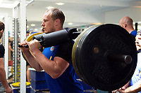 Jack Wilson of Bath Rugby in the gym. Bath Rugby pre-season training on July 2, 2018 at Farleigh House in Bath, England. Photo by: Patrick Khachfe / Onside Images