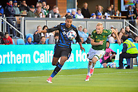 San Jose, CA - Saturday May 06, 2017: Danny Hoesen during a Major League Soccer (MLS) match between the San Jose Earthquakes and the Portland Timbers at Avaya Stadium.