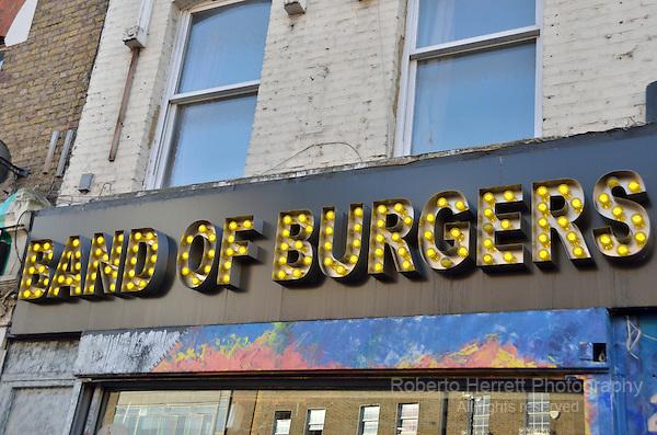 Band of Burgers, hamburger restaurant in Camden Town, London, UK.