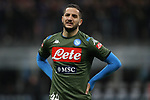Kostas Manolas of Napoli grimaces in the warm up during the Coppa Italia match at Giuseppe Meazza, Milan. Picture date: 12th February 2020. Picture credit should read: Jonathan Moscrop/Sportimage