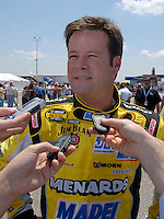 Apr 28, 2007; Talladega, AL, USA; Nascar Nextel Cup Series driver Robby Gordon (7) during qualifying for the Aarons 499 at Talladega Superspeedway. Mandatory Credit: Mark J. Rebilas