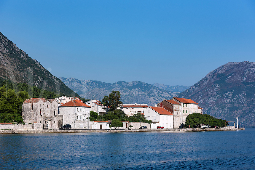 Charming coastal village along the Bay of Kotor, Montenegro