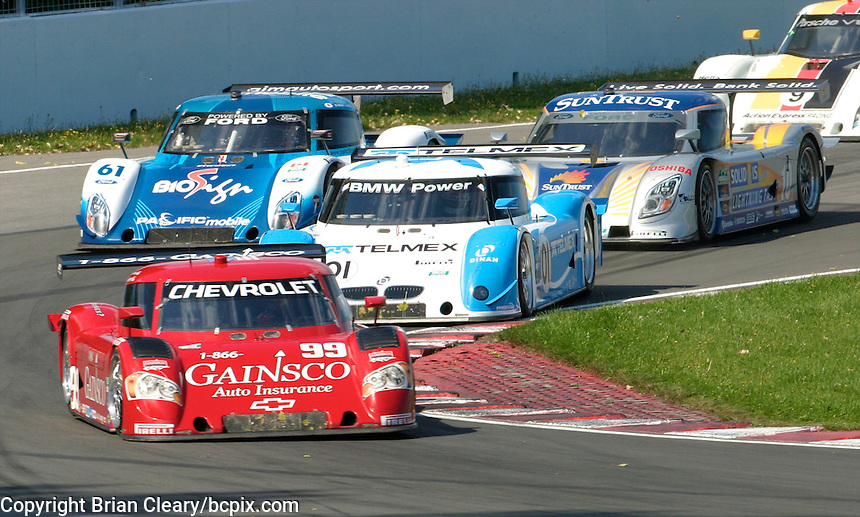 The #99 Chevrolet  Riley of Alex Gurney and Jon Fogarty leads the pack at the start of  the Montreal 200, Circuit Gilles Villenueve, Montreal, Quebec, Canada, August 2010.  (Photo by Brian Cleary/www.bcpix.com)