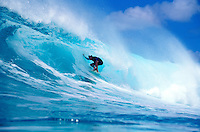 Surfer Eric Totah surfing at Honolua Bay on Maui