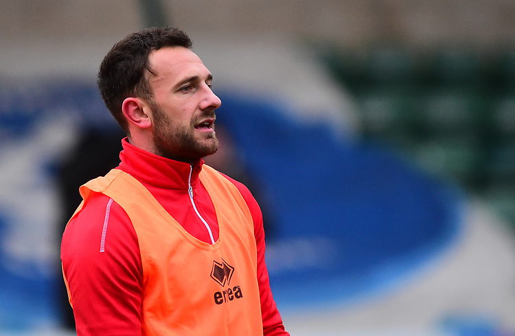 Lincoln City's Neal Eardley during the pre-match warm-up<br /> <br /> Photographer Andrew Vaughan/CameraSport<br /> <br /> The EFL Sky Bet League Two - Saturday 15th December 2018 - Lincoln City v Morecambe - Sincil Bank - Lincoln<br /> <br /> World Copyright © 2018 CameraSport. All rights reserved. 43 Linden Ave. Countesthorpe. Leicester. England. LE8 5PG - Tel: +44 (0) 116 277 4147 - admin@camerasport.com - www.camerasport.com