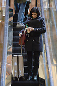 Seems Verma, president-elect's choice for Centers for Medicare and Medicaid Services administrator, is seen coming down the escalators in the lobby of the Trump Tower in New York, NY, on January 10, 2017. <br /> Credit: Anthony Behar / Pool via CNP