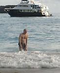 Steve Martin in St Barth Beach 01/10/2008
