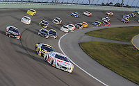Nov. 15, 2008; Homestead, FL, USA; NASCAR Nationwide Series driver Carl Edwards (60) leads the field during the Ford 300 at Homestead Miami Speedway. Mandatory Credit: Mark J. Rebilas-