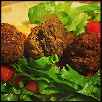 The first falafel dinner of 2013 on January 1, 2013.