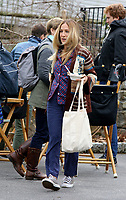 WWW.ACEPIXS.COM<br /> <br /> April 5 2017, New York City<br /> <br /> Actress Sarah Jessica Parker was on the Westchester set of the TV show 'Divorce' on April 5 2017 in New York<br /> <br /> <br /> By Line: Philip Vaughan/ACE Pictures<br /> <br /> ACE Pictures, Inc.<br /> tel: 646 769 0430<br /> Email: info@acepixs.com<br /> www.acepixs.com
