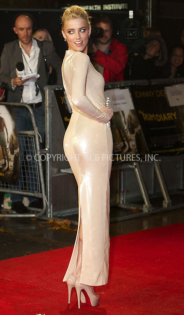 WWW.ACEPIXS.COM . . . . .  ..... . . . . US SALES ONLY . . . . .....November 3 2011, London....Amber Heard at the European premiere of 'The Rum Diary' at the Odeon Kensington at on November 3, 2011 in London, England. ....Please byline: FAMOUS-ACE PICTURES... . . . .  ....Ace Pictures, Inc:  ..Tel: (212) 243-8787..e-mail: info@acepixs.com..web: http://www.acepixs.com