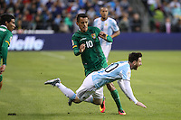 Seattle, WA - Tuesday June 14, 2016: Jhasmani Campos, Lionel Messi during a Copa America Centenario Group D match between Argentina (ARG) and Bolivia (BOL) at CenturyLink Field.