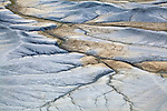 Abstract patterns in the Cainville Badlands, Utah, USA